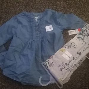 Old Navy 5t outfit shirt leggings